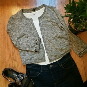 EXPRESS Marled Women Cropped Sweater Blazer Size S
